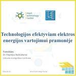 Technologijos efektyviam elektros energijos vartojimui pramonėje